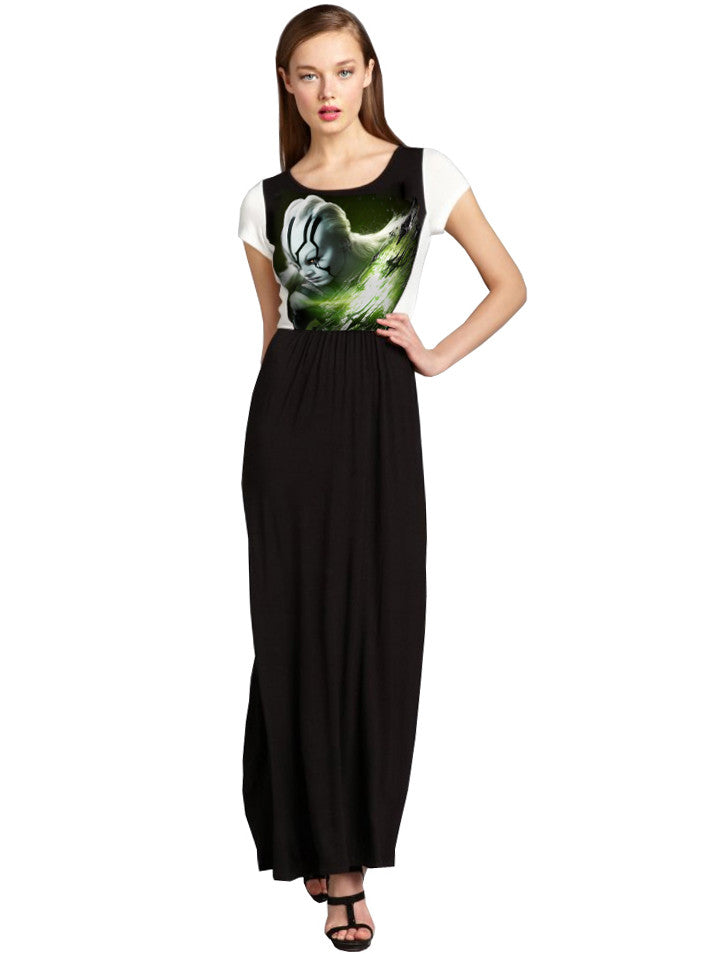Star Trek Beyond Warrior Jaylah Two Tone Long Maxi Dress