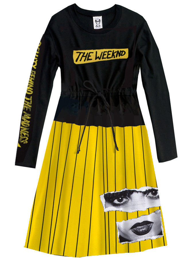 The Weeknd Beauty Behind Madness Long Sleeve Dress One - IDILVICE Clothing