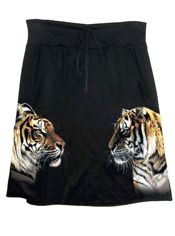 Tiger Siblings Photo Print T-Shirt Skirt