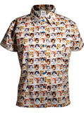 Kitten Faces Print Button Down S/S Shirt - IDILVICE Clothing - 1