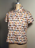 Kitten Faces Print Button Down S/S Shirt - IDILVICE Clothing - 2