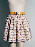 Tiny Kitten Faces Print Woven Gathered Skirt - IDILVICE Clothing - 3