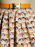 Tiny Kitten Faces Print Woven Gathered Skirt - IDILVICE Clothing - 2