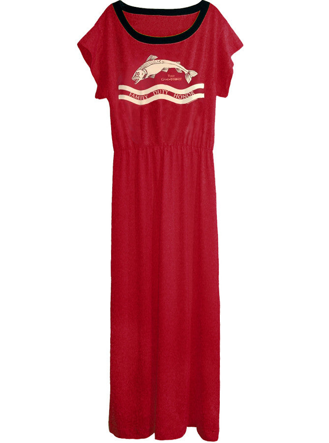 Tully Game Of Thrones Long Slouchy Goddess Maxi Dress Gown - IDILVICE Clothing