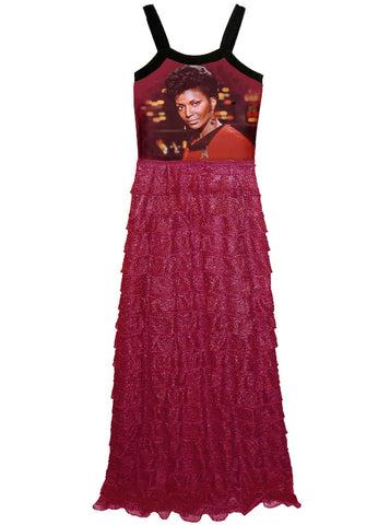 Cardinal Uhura Star Trek Ruffle Maxi Dress Gown
