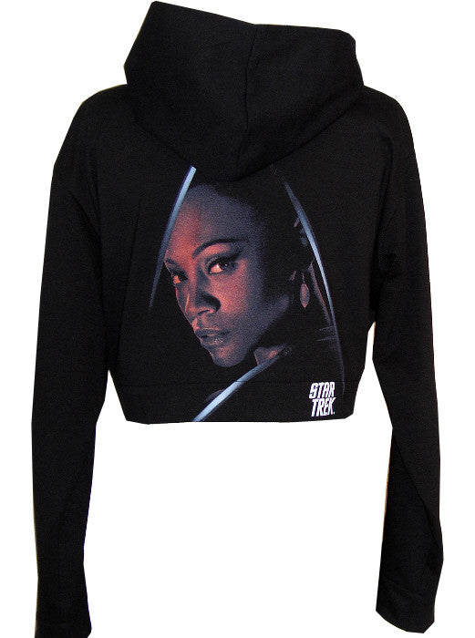 Uhura Star Trek Organic Cotton Cropped Hoodie Zip Jacket - IDILVICE Clothing - 1