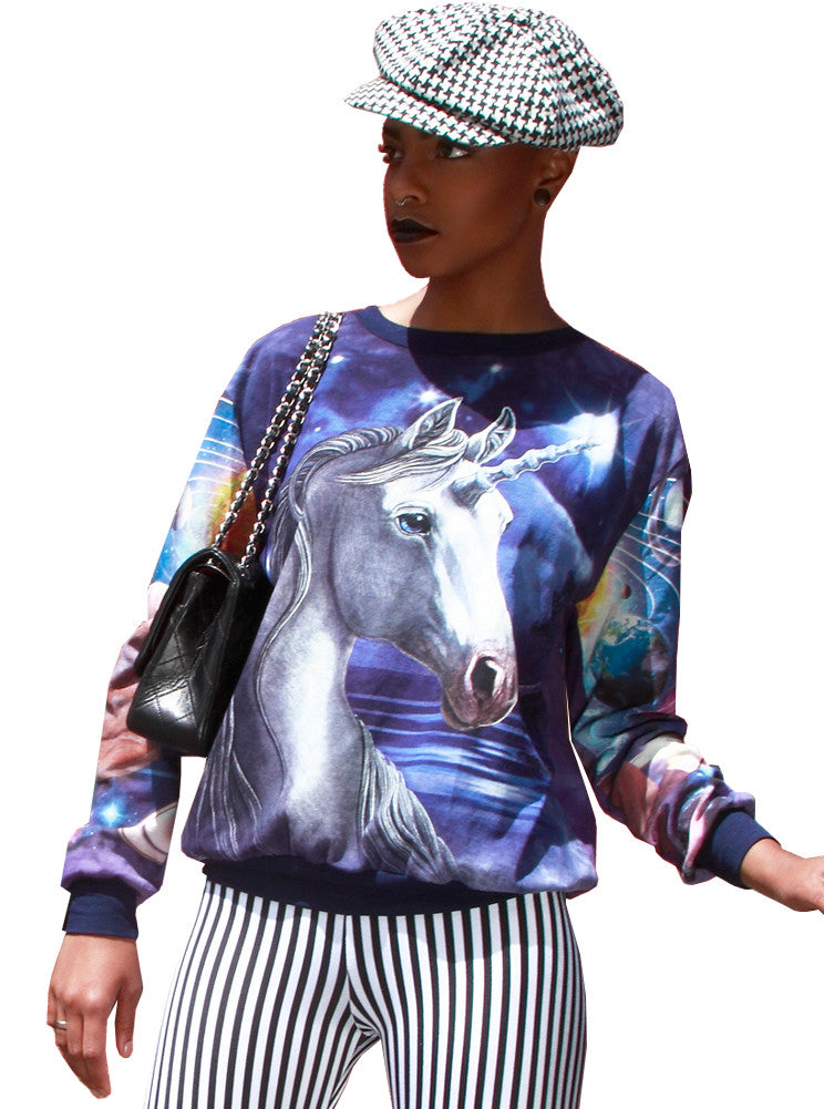 Unicorn Galaxy All Over Print Jumper - IDILVICE Clothing - 1