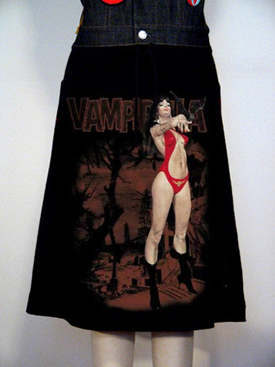 Vampirella Photo Print Skirt - IDILVICE Clothing
