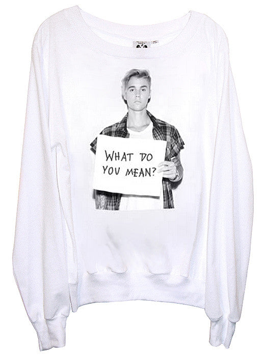 Bieber What Do You Mean Slouchy Jumper - IDILVICE Clothing