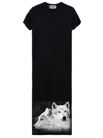 Wolves Siblings Women's Maxi T-Shirt