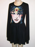Wonder Woman Long Sleeve Skater Dress - IDILVICE Clothing - 5