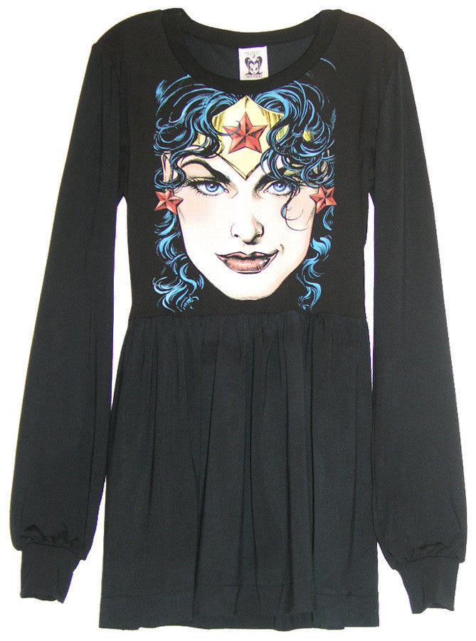 Wonder Woman Long Sleeve Skater Dress - IDILVICE Clothing - 1
