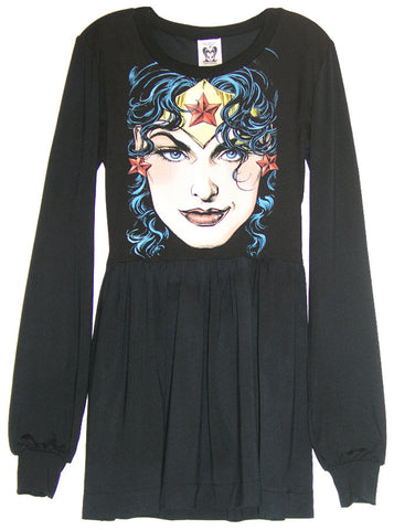 Wonder Woman Long Sleeve Skater Dress