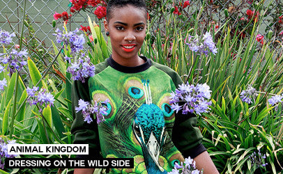 idilvice fashion anmal kingdom collection - very cool animal faces printed on sweatshirts, jumpers, skirts and dresses
