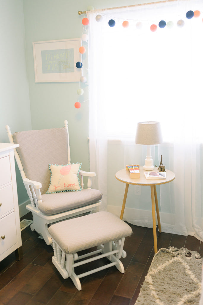 Mint & Peach Nursery For Georgia