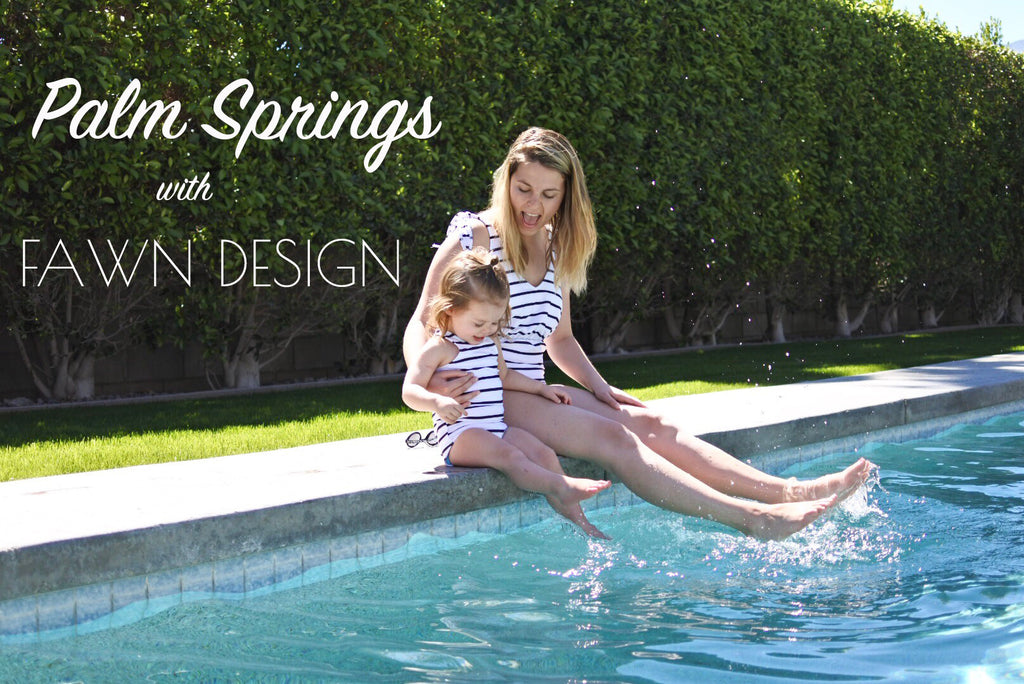 PALM SPRINGS WITH FAWN DESIGN
