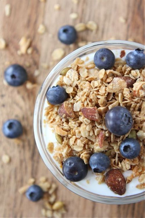 Greek Yogurt and Granola - Healthy Pregnancy Snacks - Fawn Design