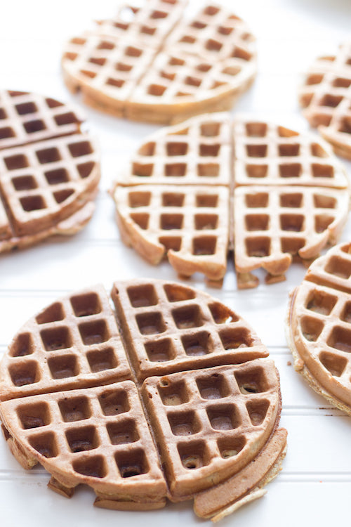 Whole Wheat Toaster Waffle and Nut Butter - Healthy Pregnancy Snacks - Fawn Design