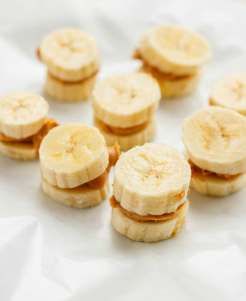 Bananas and Peanut Butter - Healthy Pregnancy Snacks - Fawn Design