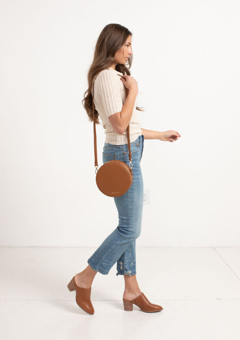 Fawn Design Circle Bag in Brown