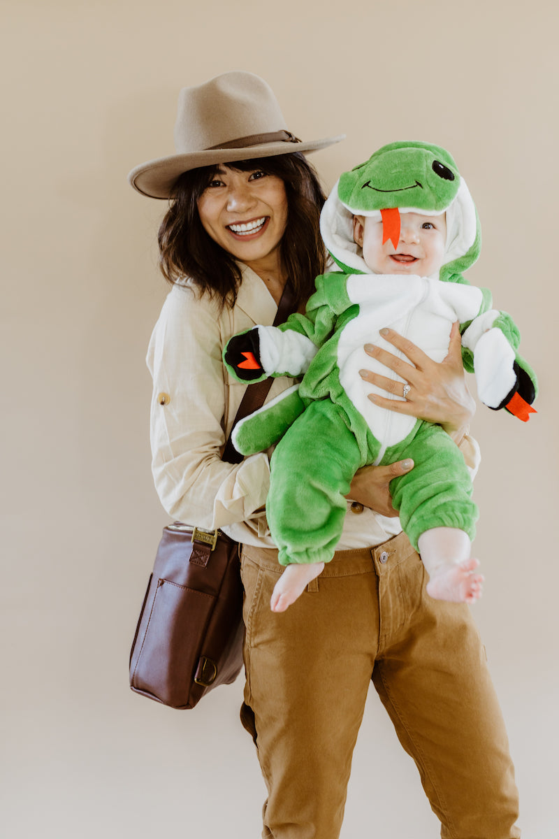 Fawn Design Halloween Costumes: Indiana Jones + Baby Snake