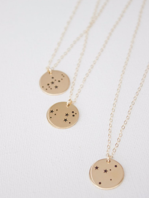 Fawn Design Holiday Gift Guide for Her - Katie Waltman Zodiac Necklaces