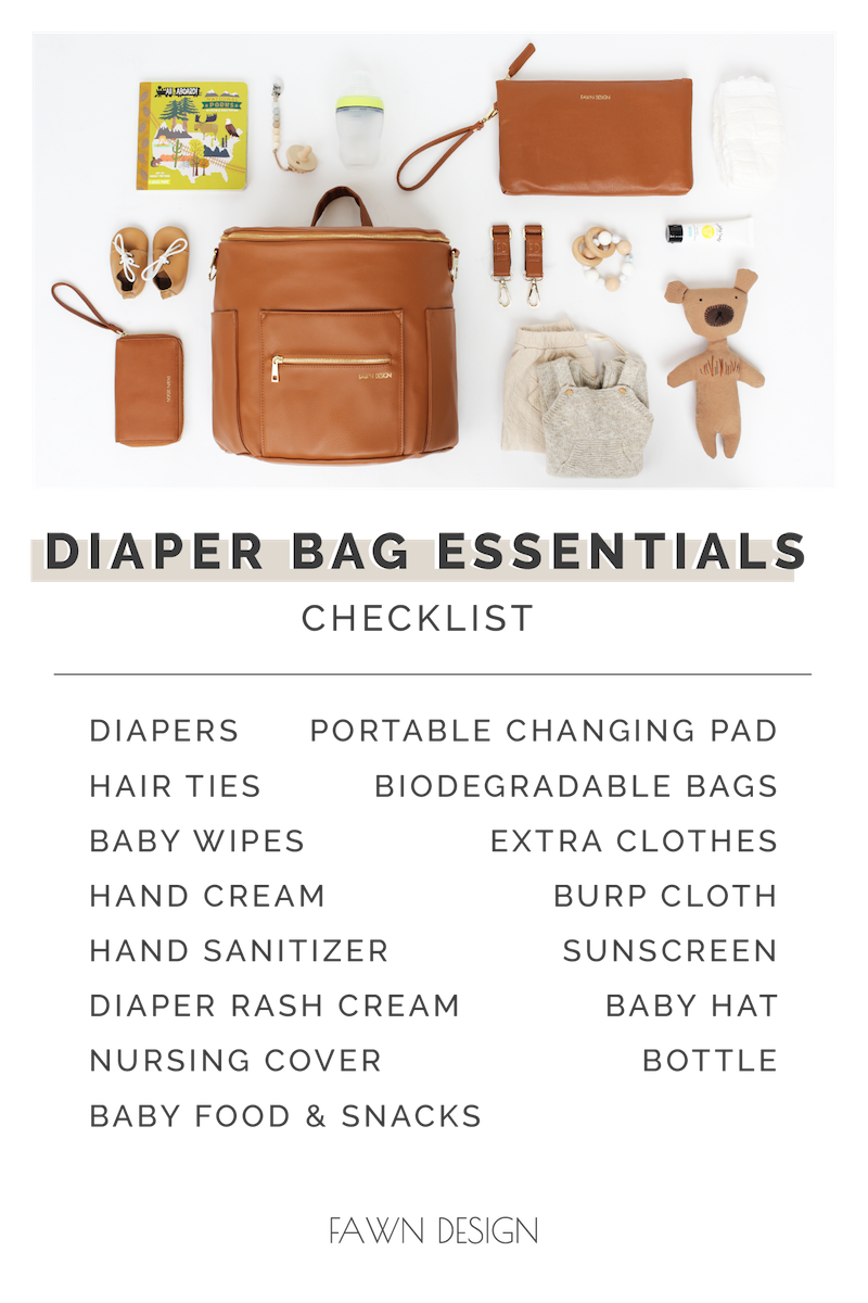 Fawn Design Diaper Bag Checklist