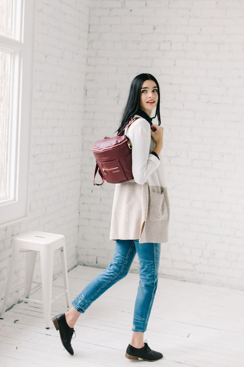Fawn Design Holiday Outfits - Fawn Design Mini Backpack Purse in Wine