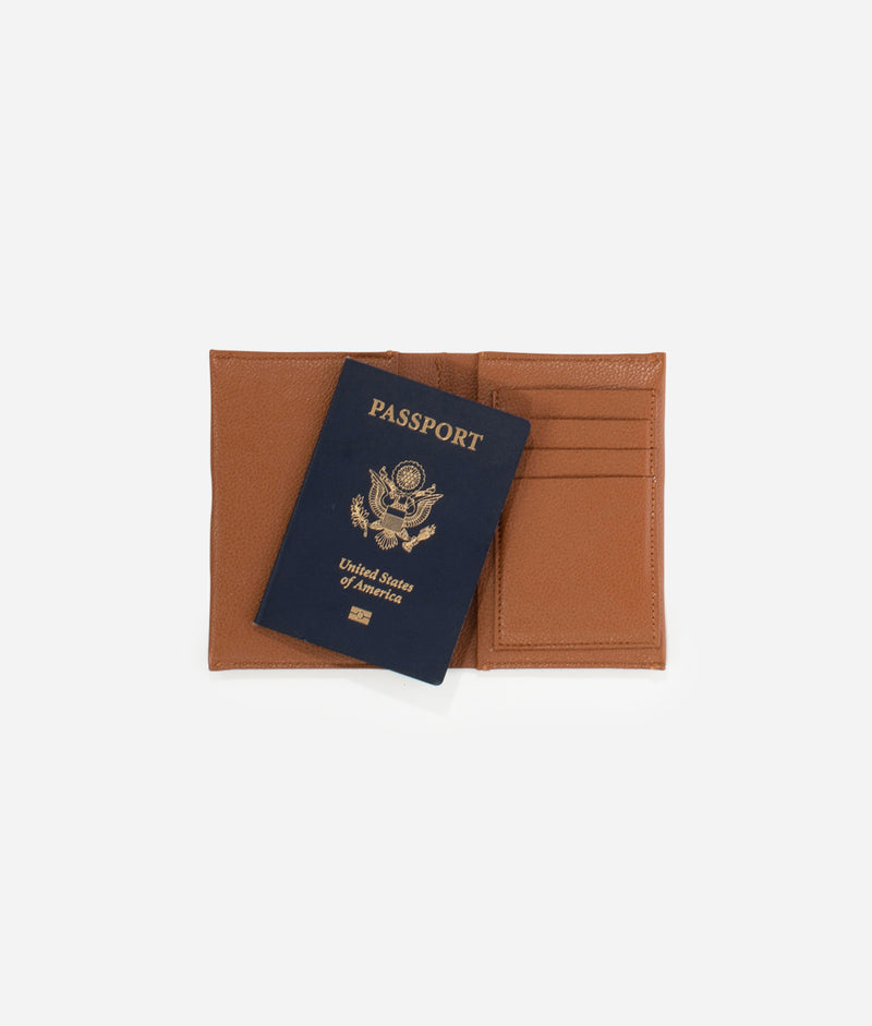 The Passport Wallet - Brown