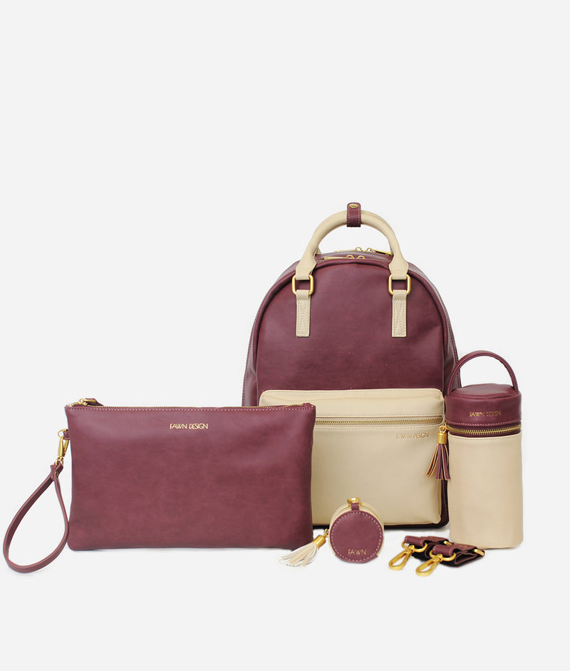 The FD + Anthropologie Diaper Pack Ultimate Bundle - Oxblood