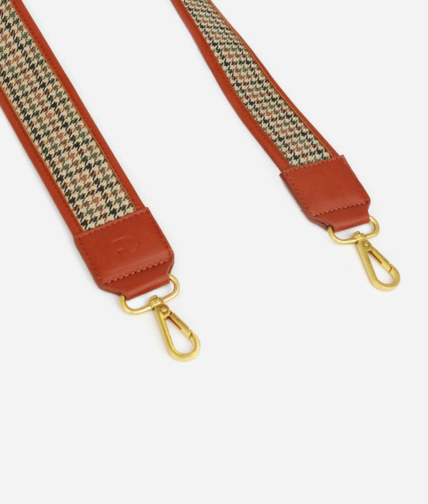 The Strap - Saddle/Plaid