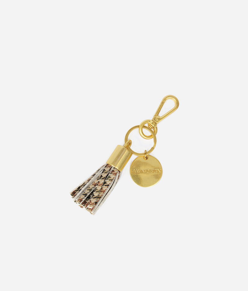 The Tassel Keychain - Plaid