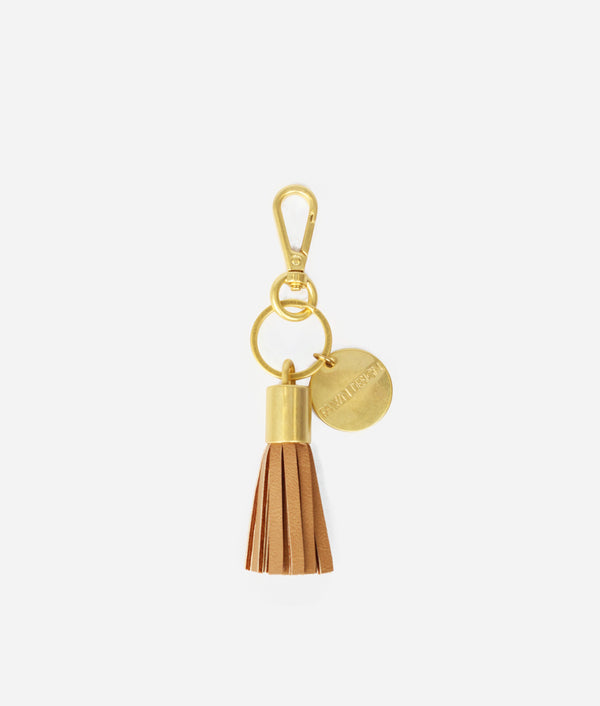 The Tassel Keychain - Tan