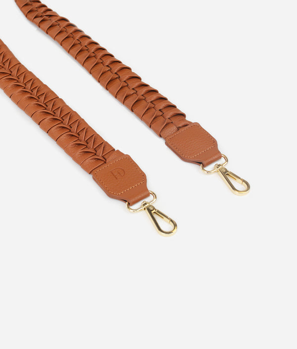 The Fishtail Braid Strap - Brown