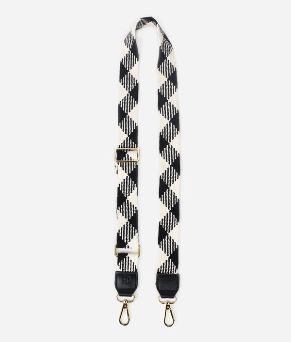 The Woven Strap - Black/White