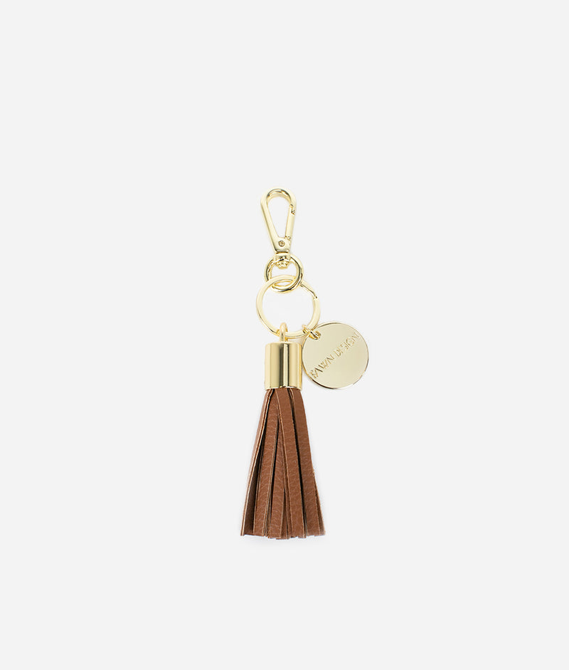 The Tassel Keychain - Brown