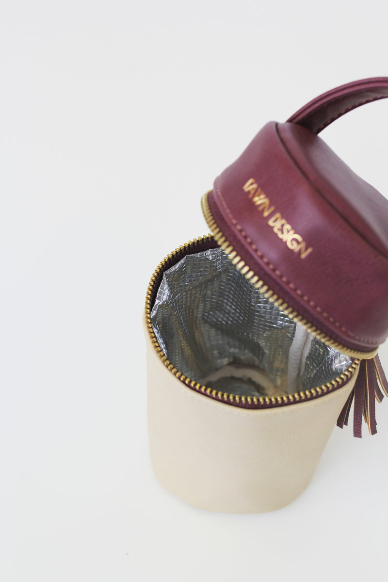 The FD + Anthropologie Bottle Bag - Oxblood