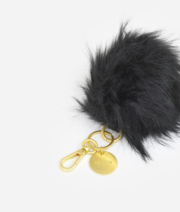 The Pouf Keychain - Black