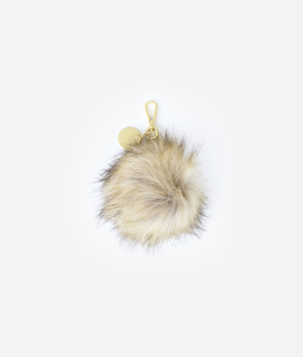 The Pouf Keychain - Brown