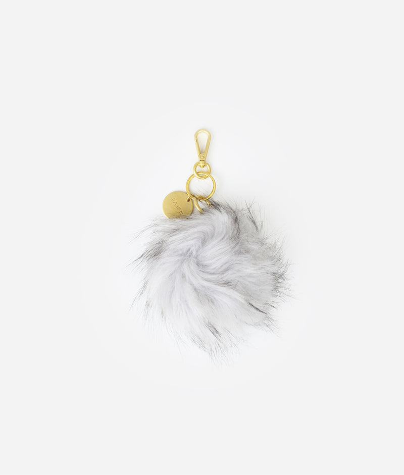 The Pouf Keychain - Gray