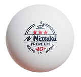 Nittaku 3-Star Premium 40+ (Made in Japan)