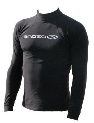 Ozone Long Sleeve Rash Shirt. Add an extra layer under or over your wetsuit. Lycra with snuggly fleece lining...