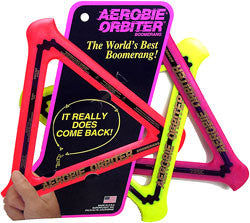 The Aerobie Orbiter Boomerang is easy to come to grips with  once mastered will return to flyer