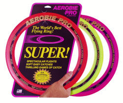 Frisbee, Aerobie Pro Ring, world record distance holder, flights of over 400m have been recorded