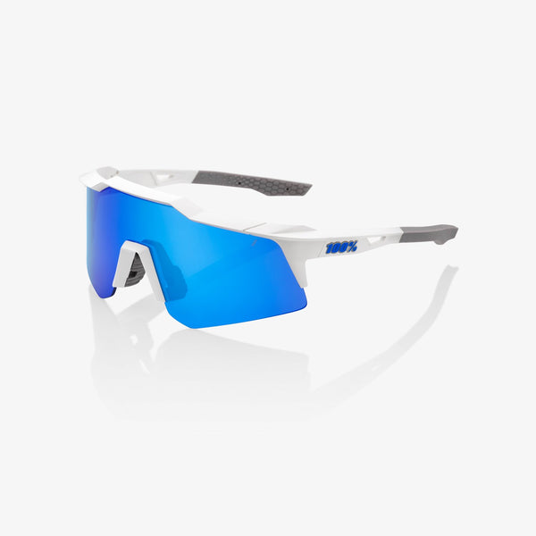 100% SPEEDCRAFT® XS Matte White Blue Multilayer Mirror Lens