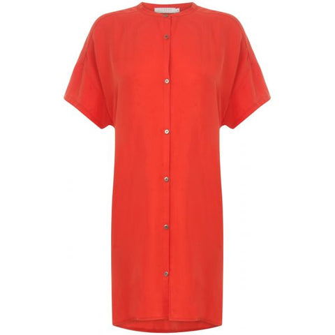 Oversized , Short sleeved cupro shirt - PANTE