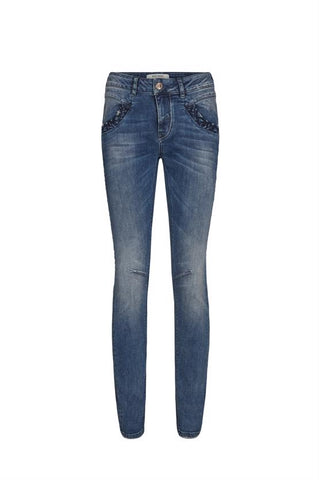 Naomi Embroidery Jeans - PANTE