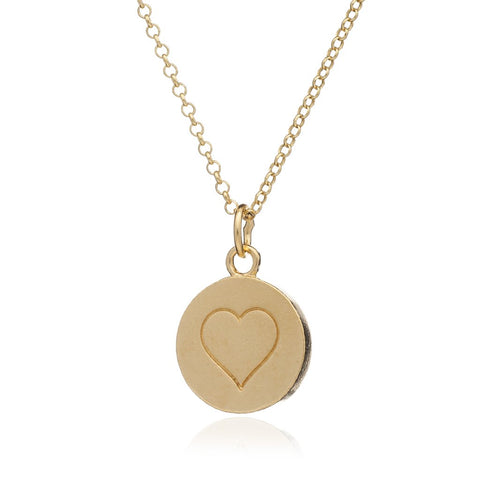 Heart Stamp Charm Necklace - PANTE