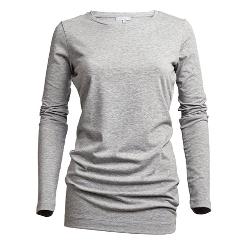LONG LENGTH TEE  GREY - PANTE