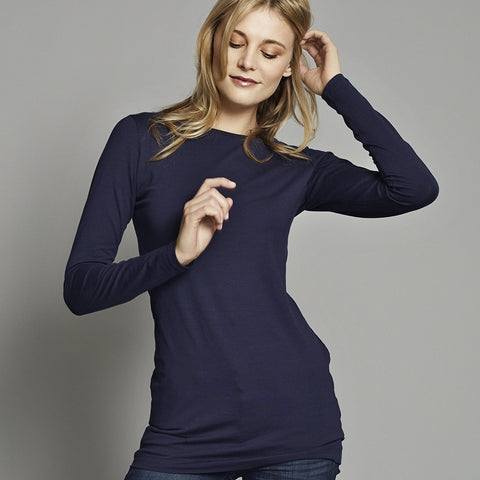 LONG LENGTH TEE  NAVY - PANTE